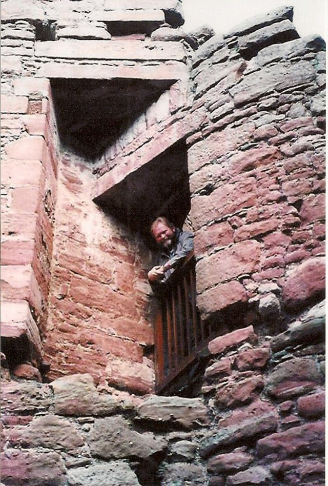 """Steven Lindsey at Edzell Castle; Edzell, Scotland...the """"ancestral home"""" of the Lindsay Clan."""